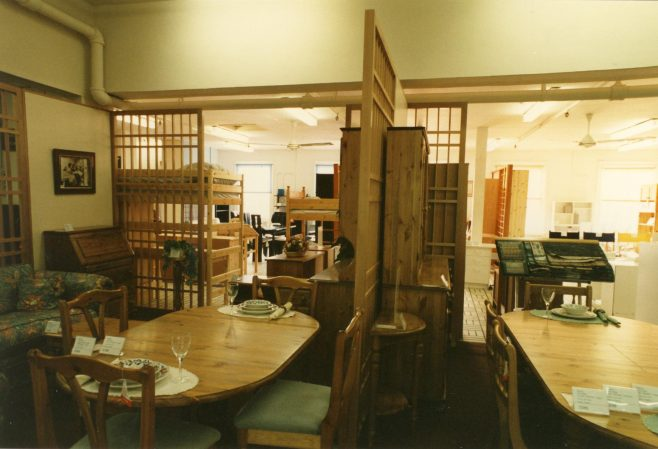 Dining room furniture section.   JLP Archive Collection