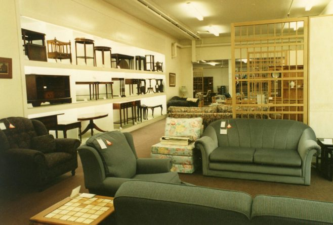 The upholstery and occasional furniture section. | JLP Archive Collection