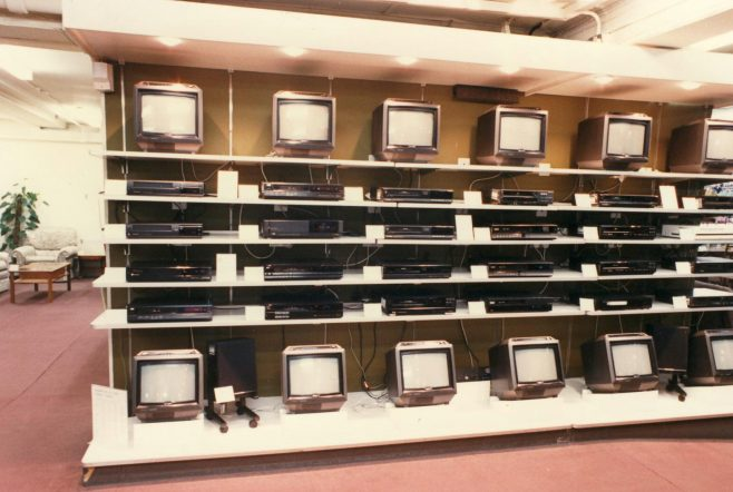 Televisions and video recorders. | JLP Archive Collection
