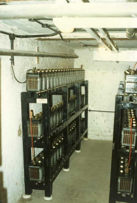 Batteries for the emergency lighting. | JLP Archive Collection