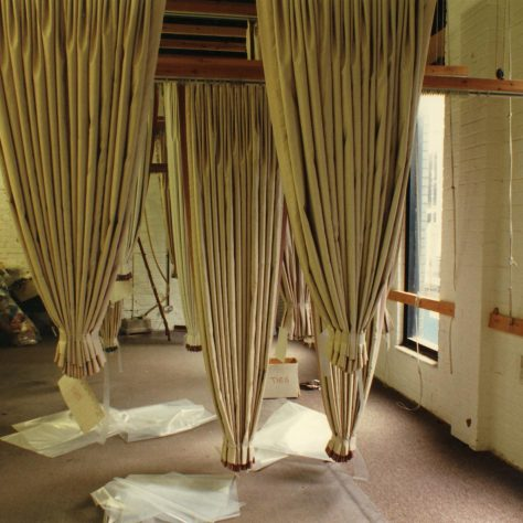 Finished curtains awaiting delivery to customers. | JLP Archive Collection