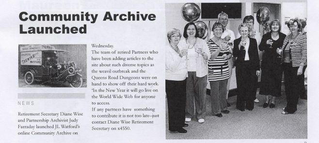 Community Archive launched | Chronicle, Volume 57, No.35, 29 September 2007. L/R Maureen Bone, Jo Spence, Marion Hudson, Ian Hudson, Diane Wise, Margaret Tucker, Judy Faraday and Jean Gilchrist