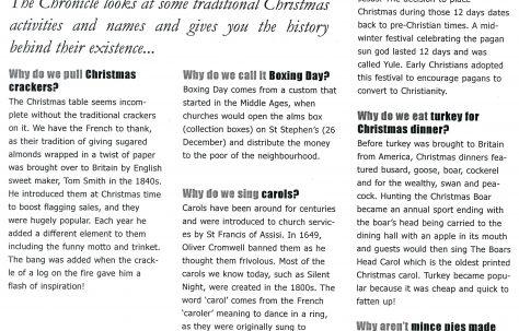 2002 Christmas Chronicle.