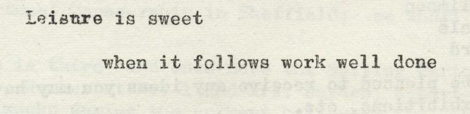Leisure is sweet | Volume 6, No.12, 20 April 1957