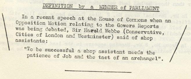 Definition of a shop assistant | Volume 6, 13 July 1957