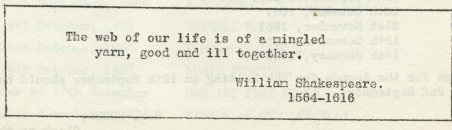 The web of our life | Volume 6, No.29, 31 August 1957