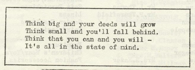 State of mind | Volume 6, No.32, 28 September 1957