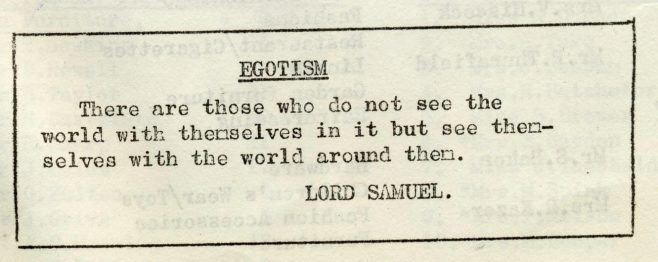 Egotism | Volume 6, No.37, 19 October 1957