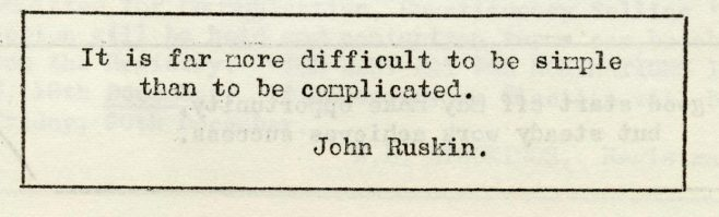 Simple or complicated? | Volume 6, No.45, 14 December 1957