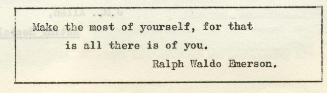Make the most of yourself. | Volume 7, No.4, 8 March 1958