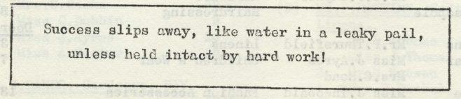 Success slips away. | Volume 7, No.9, 12 April 1958