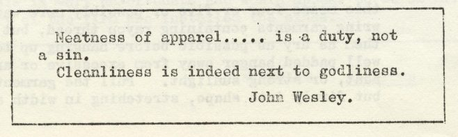 Neatness of apparel. | Volume 7, No.16, 31 May 1958