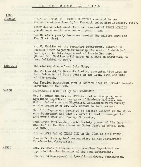 Chronicle, 3 January 1959