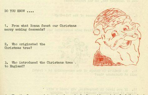 Christmas Chronicle, 1960