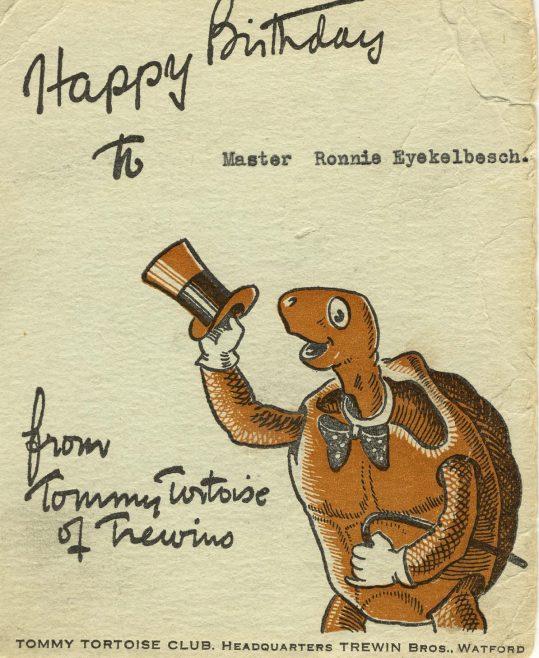 Tommy Tortoise Club, Trewin Bros., Watford