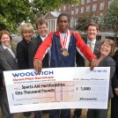 Sports Aid cheque