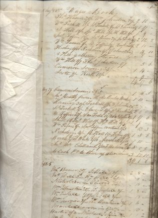 A copy of a Stead's wages ledger from 1835
