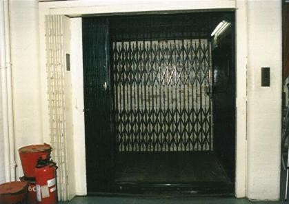Kinghams goods lift (open). | JLP Archive Collection