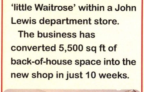 In Touch reports on the opening of 'little Waitrose'