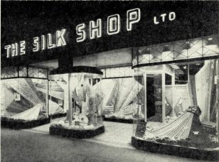 The exterior of the Silk Shop, Newcastle