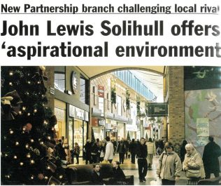 Vying to become top dog, John Lewis Solihull a year from opening