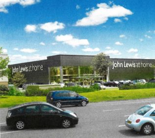 An artist's impression of the proposed Swindon At Home store
