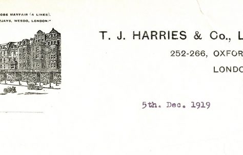 T J Harries of Oxford Street