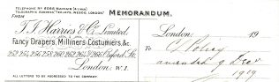 Memorandum proforma 1919 | JLP Archives