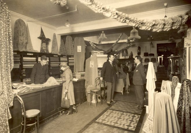 Trewin Brothers interior 1930s, millinery-gowns and piece goods departments | JLP Archive Collection