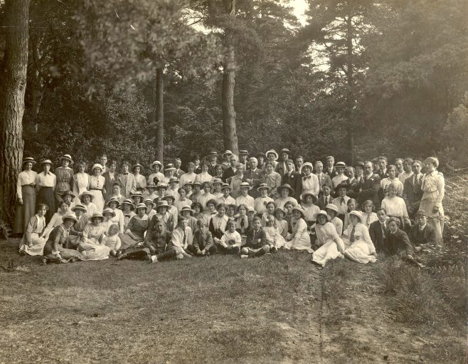 Trewin Brothers staff on annual outing Chorleywood area 1913 | JLP Archive Collection