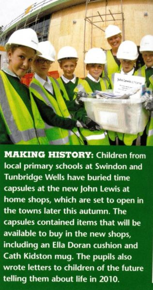 Informing children of the future, a time capsule is buried at Tunbridge Wells