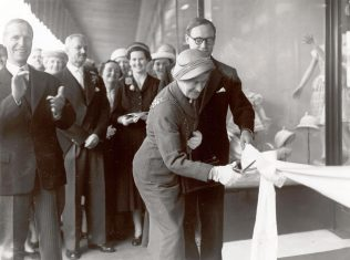 The Mayor of Southampton opens the new Tyrrell and Green department store, with then Chairman Sir Bernard Miller watching on