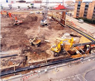 Construction of John Lewis Southampton underway at the West Quay site