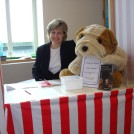 Young Minds raffle - Sue Brennan with prize pooch.