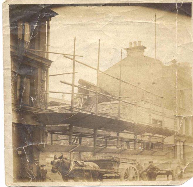 Demolition of Victoria House, Robert Sayle, Cambridge.