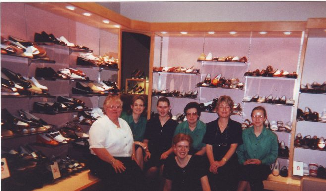 Robert Sayle Ladies Shoe Department with Penny Olesen and her team