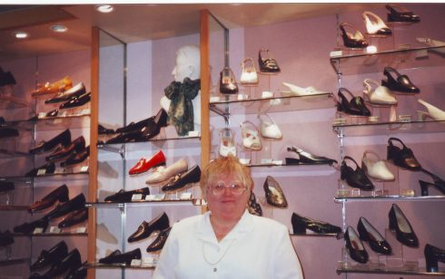 Penny Olesen, Manager Ladies Shoe Department at Robert Sayle.