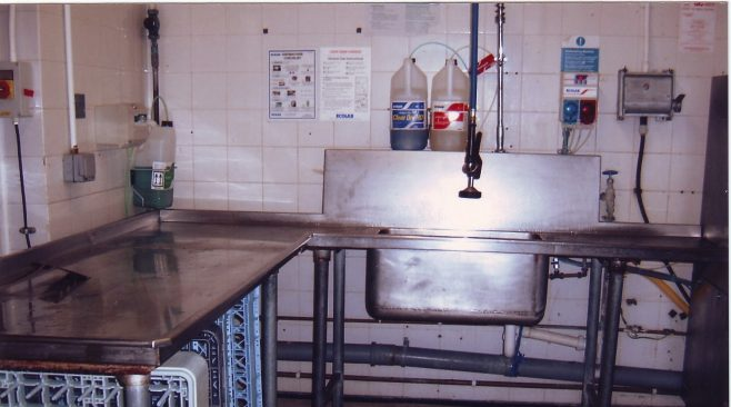 Kitchen cleaning area for pots and large pans Robert Sayle