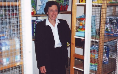Ruth Pilsworth in the Nursery Toy stockroom at Robert Sayle