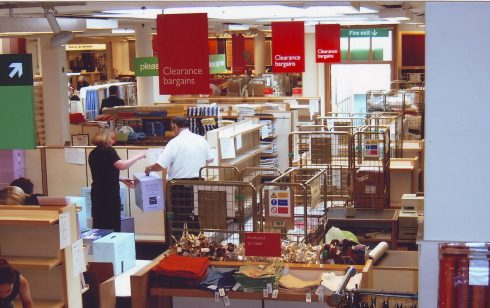 Robert Sayle Linens Department preparing for Clearance.