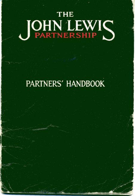 John Lewis Partnership Handbook belonging to M White at Robert Sayle