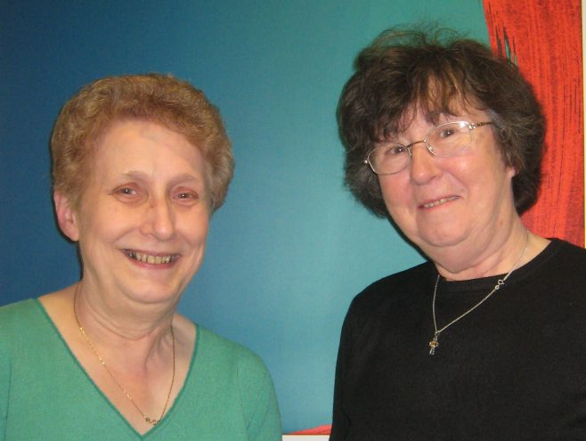 Frances Waterson and Angela Causton members of the Archive committee