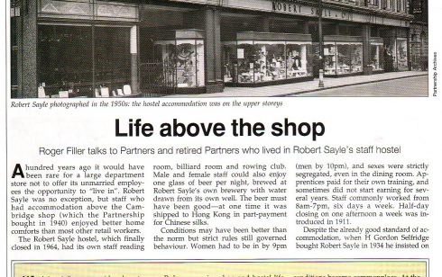 Article about Life above Robert Sayle