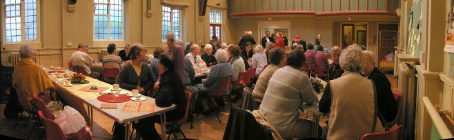 Robert Sayle Pensioners at their Christmas coffee morning at St Columba's Hall.