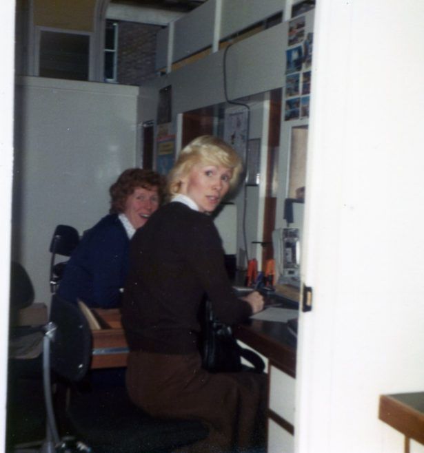 Jeanette Blackwell and Colleague in Undersale Office