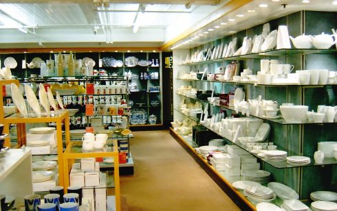 Robert Sayle China Department in the basement