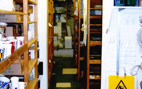 Robert Sayle China stockroom under St Andrew's Street