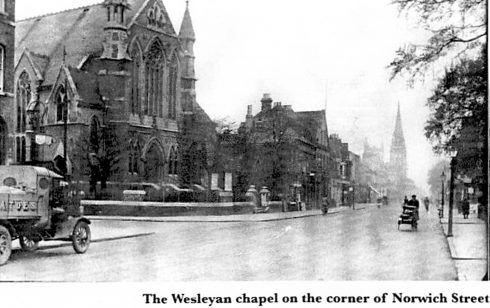 This Wesleyan Chapel was substantially financed by Robert Sayle whilst owning the shop in St Andrew's Street.
