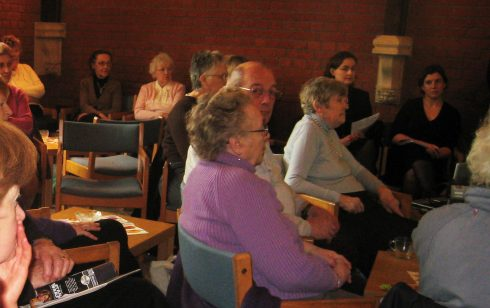 Intent interest on the history at coffee morning