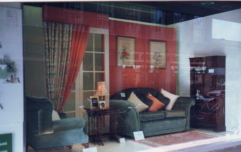 Robert Sayle Furnishing Fabric Workroom Window Display.